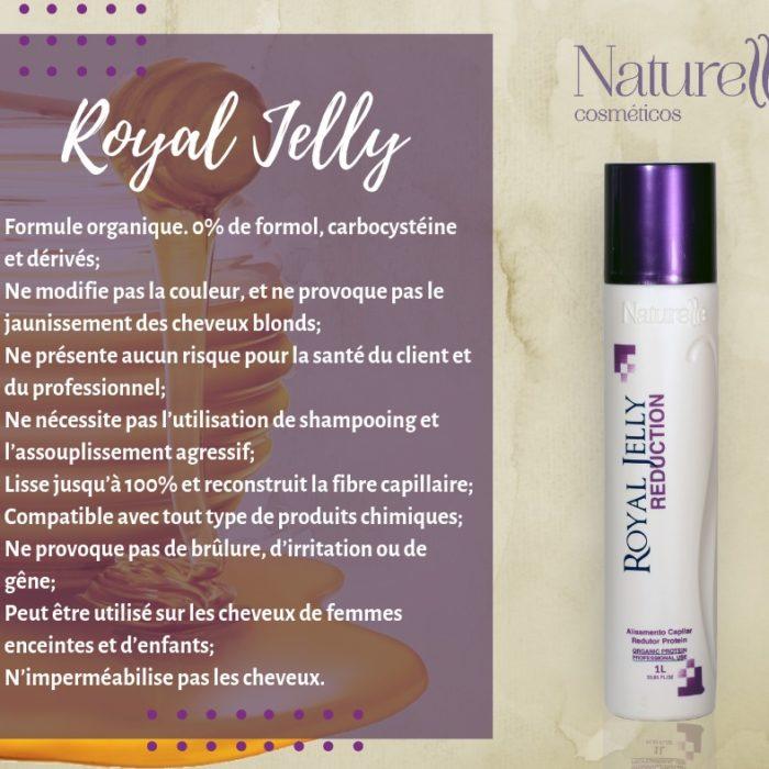 ROYAL JELLY Lissage brésilien pour cheveux naturels fins